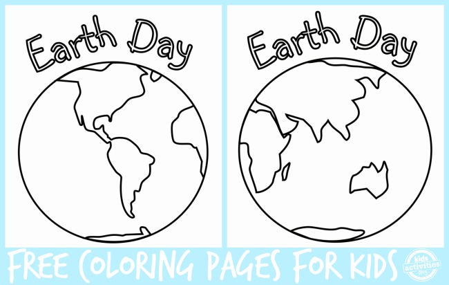 Earth Day Coloring Pages for Kids from Kids Activities Blog