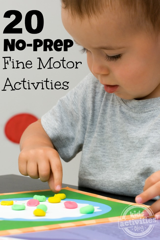 20 no prep fine motor skills activities