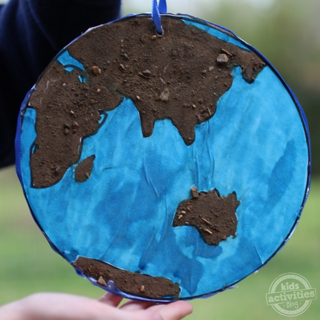 Earth Day Craft with dirt