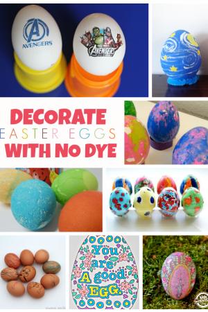 14 {No Dye} Easter Egg Ideas