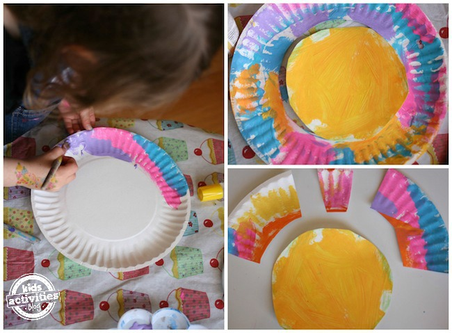 Making a paper plate bird