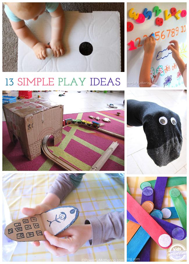 13 {Simple} Kids Play Ideas