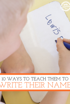 10 Ways to Teach Your Kids to Write Their Name