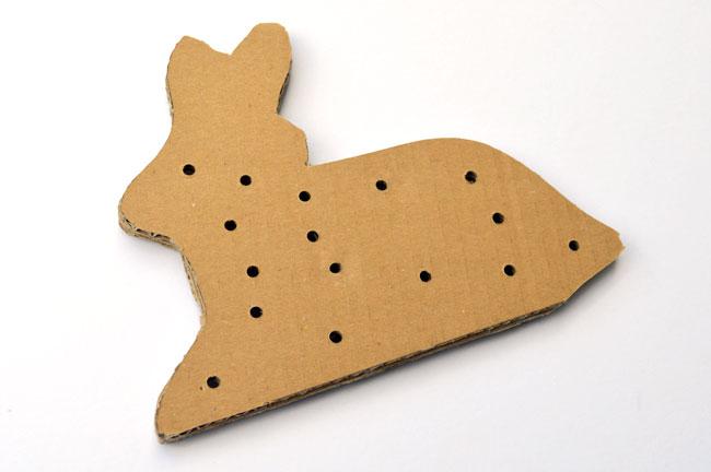 cardboard bunny sewing card free printable