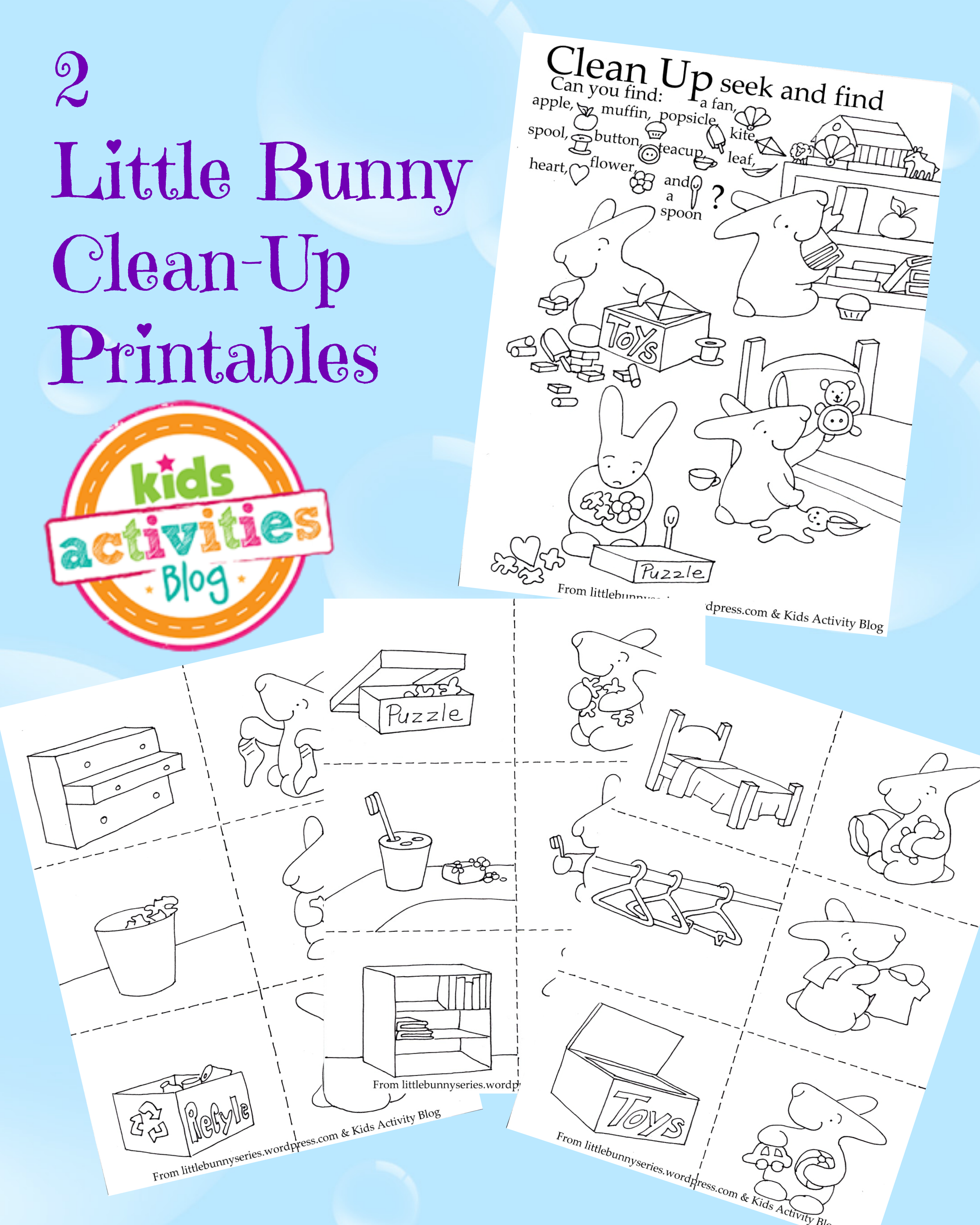 CleanUp Time Free Kids Printables
