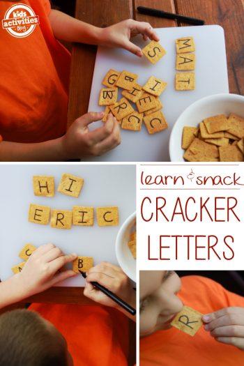 DIY Alphabet Crackers