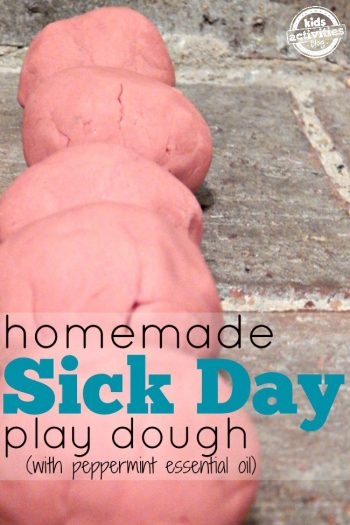 peppermint essential oil playdough