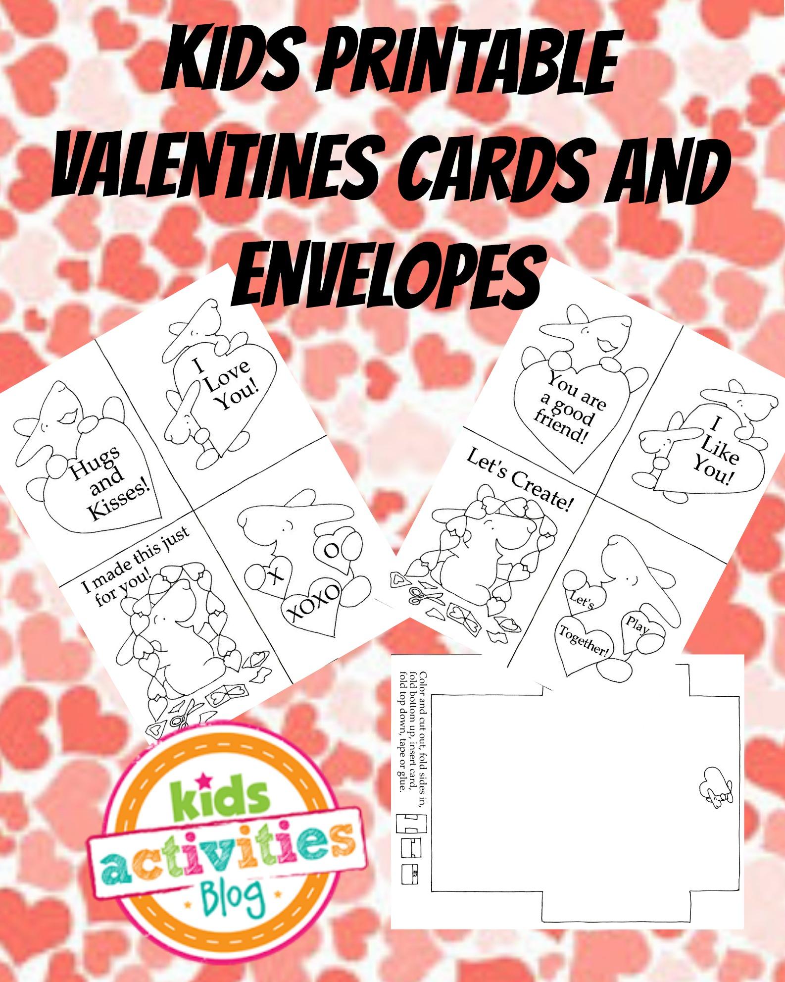 adorable bunny valentine cards free kids printable