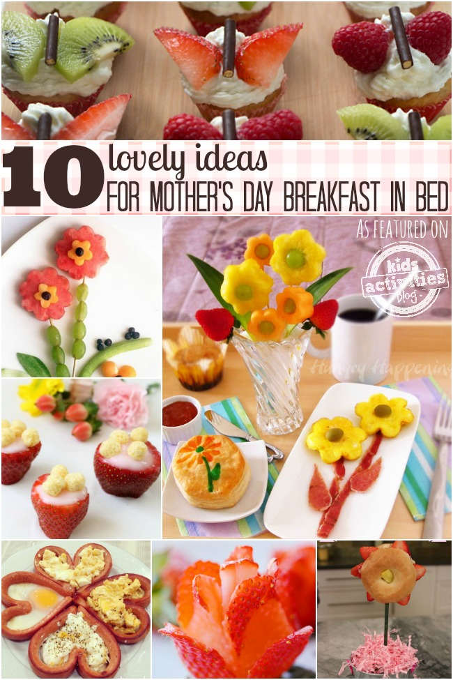 10 ideas for mothers day breakfast in bed