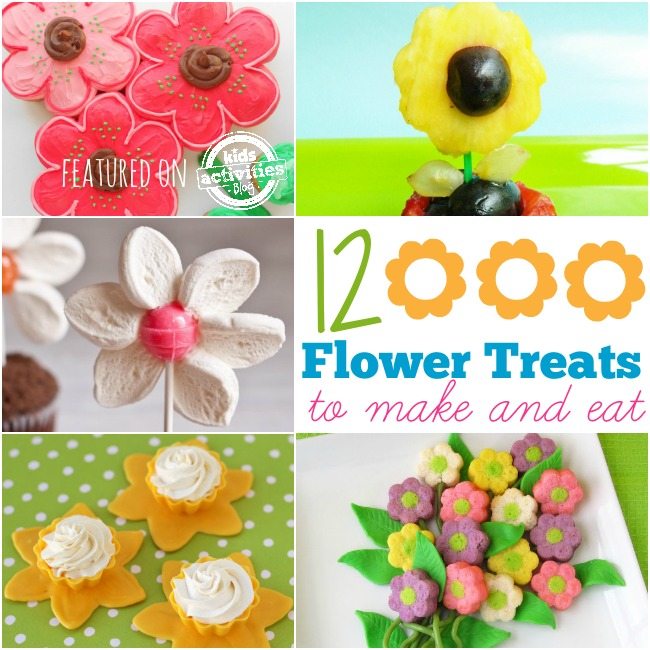 Daisy cake recipes, fruit flowers, lollipop flower cupcakes, and more
