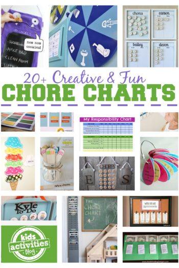 20 Chore Charts for Kids - Kids Activities Blog