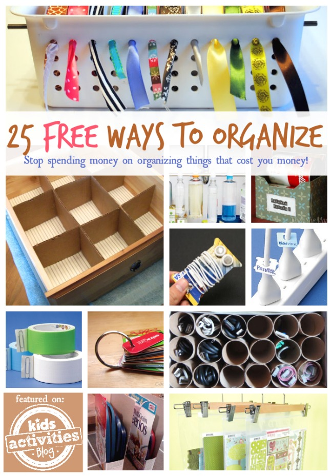 25 free ways to organize your home Organizing home