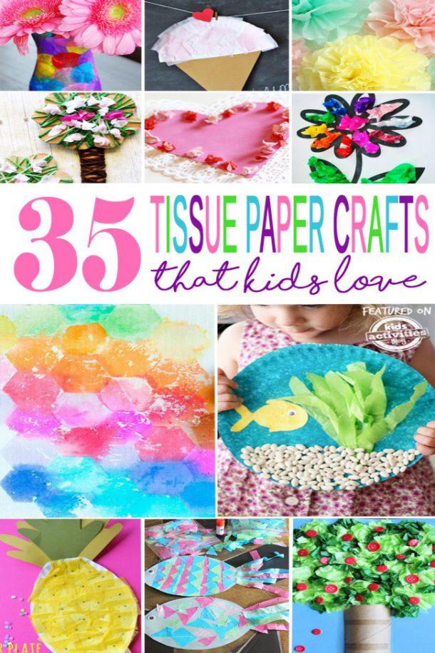 35 tissue paper crafts that kids love