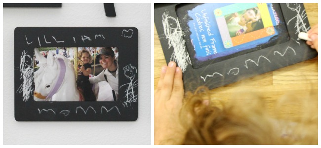 Chalk board frames gifts that kids can make