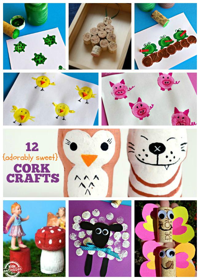 12 Adorable Cork Crafts for Kids