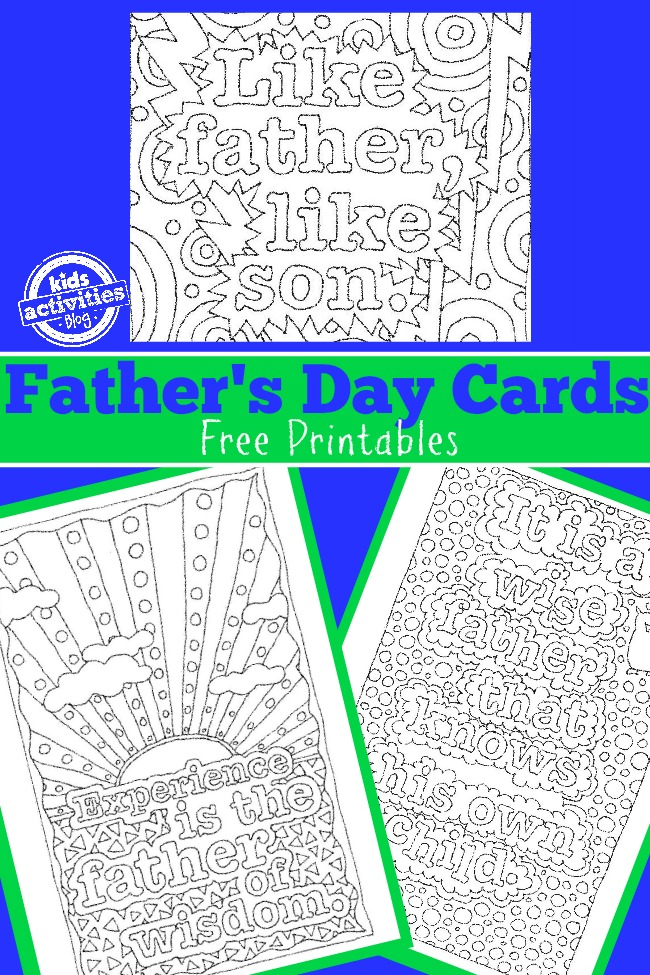 Father's day card free printables