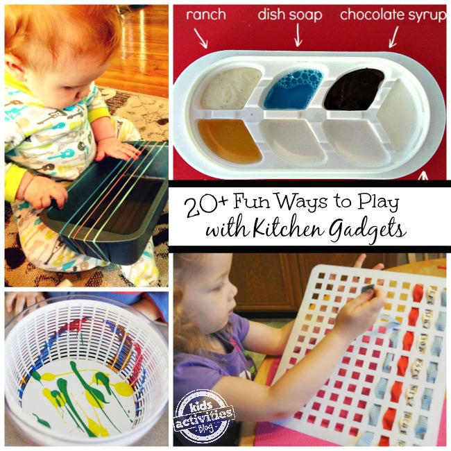 Ways to play with kids in the kitchen