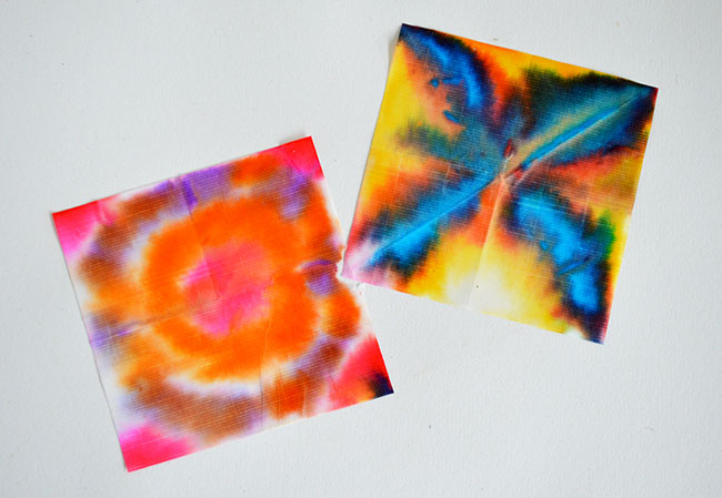 dye art for kids by Michelle McInerney of MollyMooCrafts for KidsActivitiesBlog