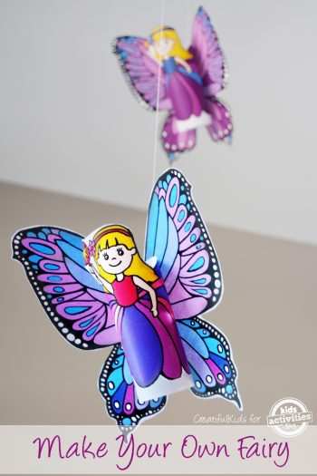 Make a Fairy Birthday Countdown for Kids
