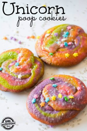 Unicorn Poop Cookies from Kids Activities Blog