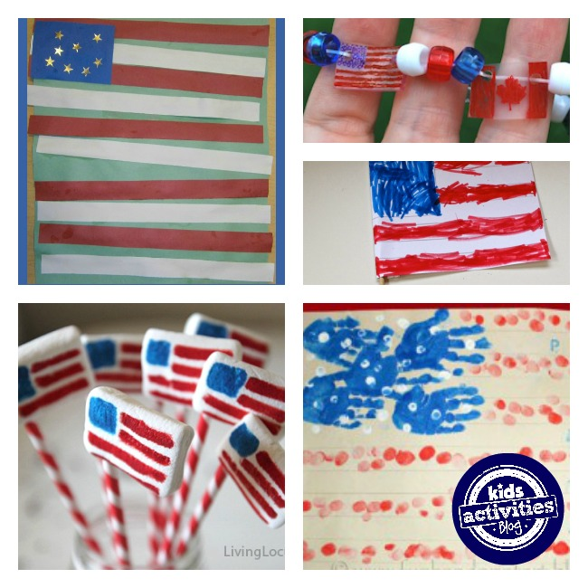 How to make a flag with the colors red, white, and blue!