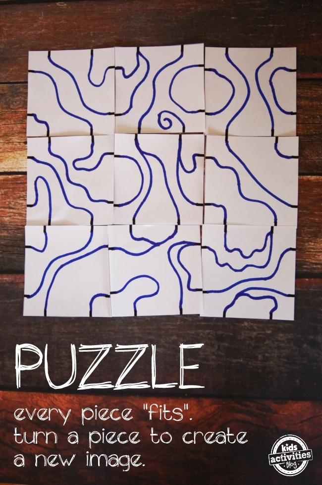 DIY Puzzle Art
