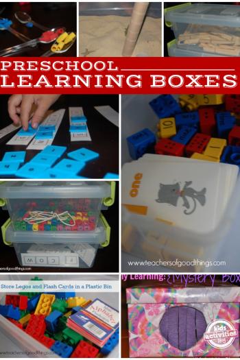 10 Preschool Learning Boxes