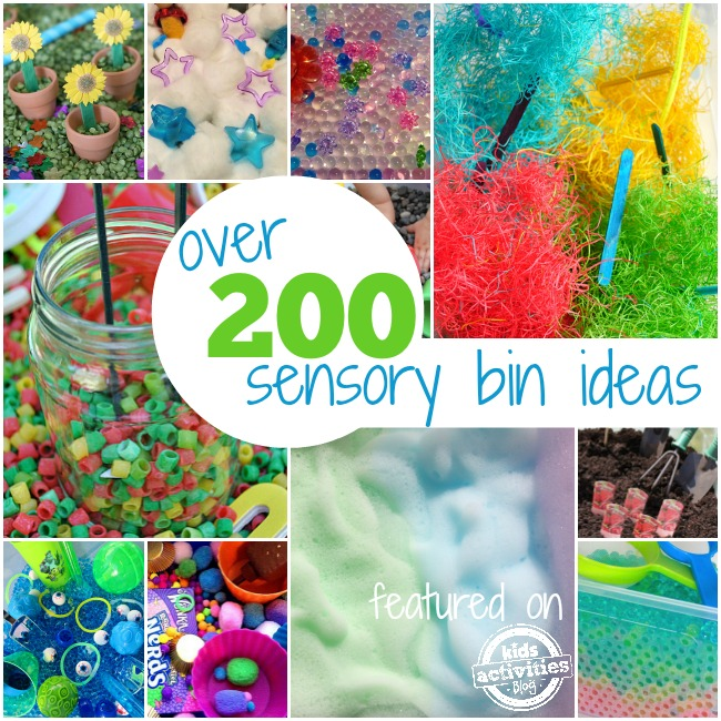 more than 200 sensory bin ideas