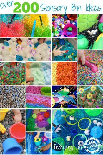 over 200 sensory bin ideas