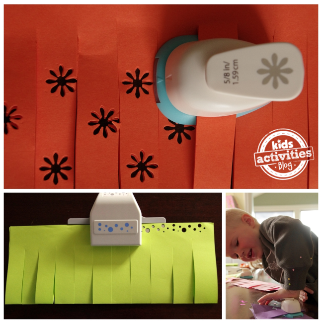 paper punch-out lanterns kids craft