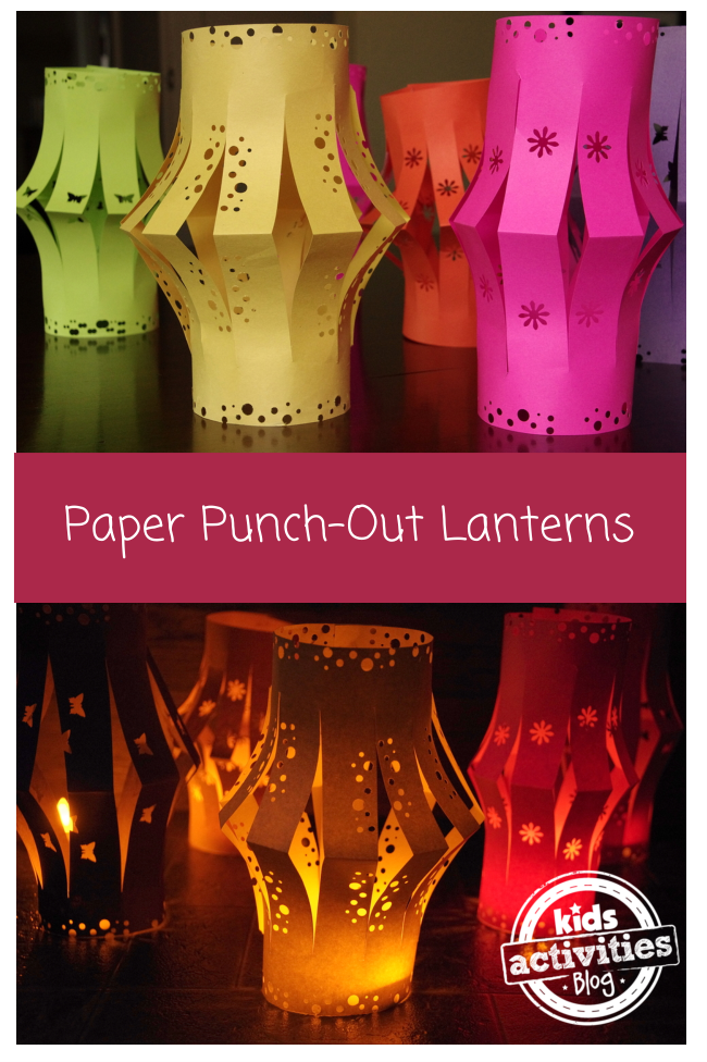 paper punch-out lanterns