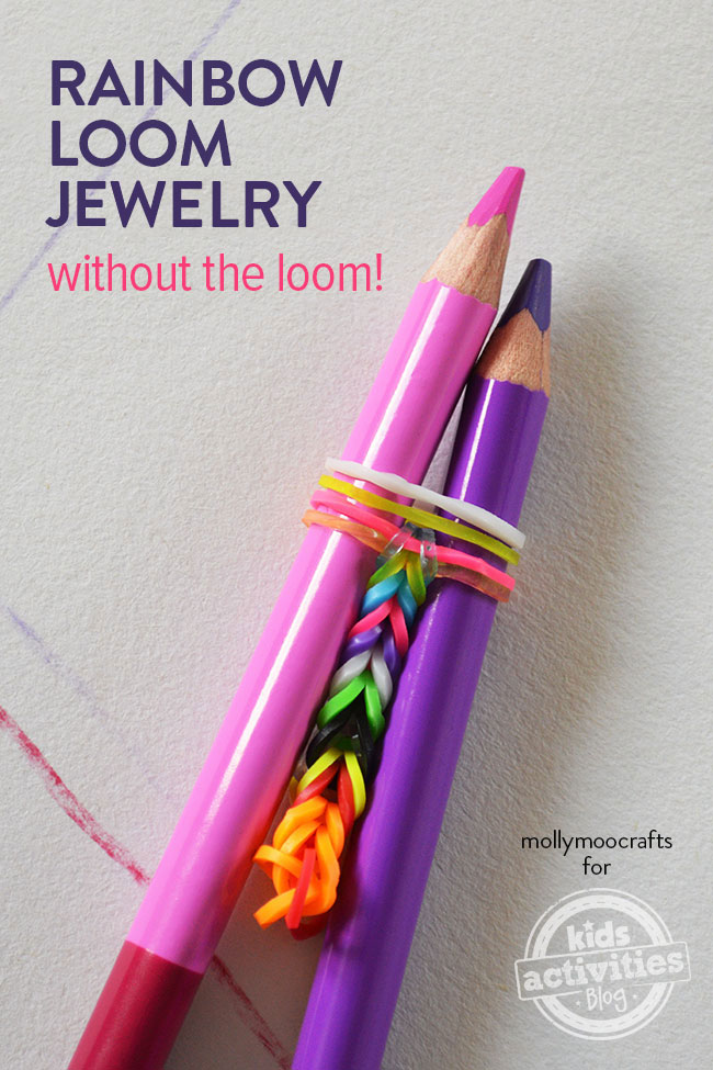 Make Rainbow Loom Jewelry - Without A Loom! easy and cool!