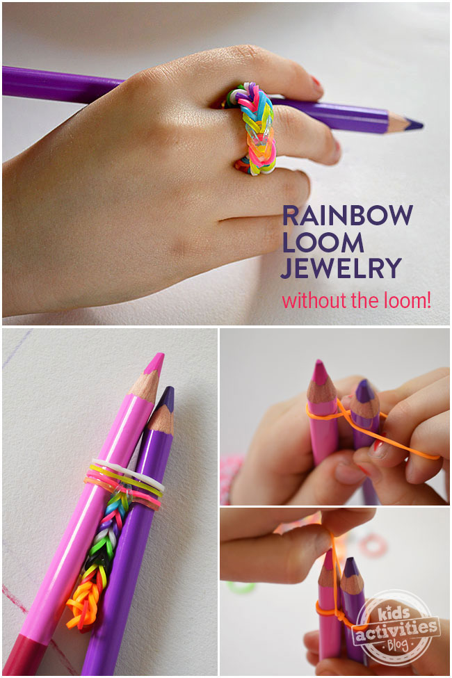 Rainbow loom jewelry without the loom