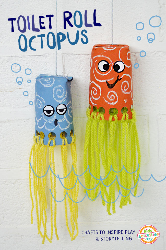 toilet roll crafts for kids wiggly octopus
