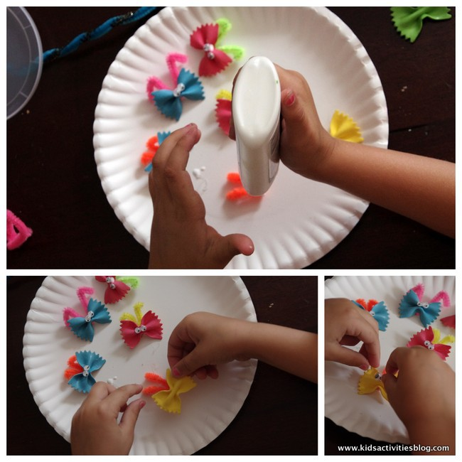 1-butterfly pasta craft watercolor for kids Jun 9, 2014, 1-49 PM