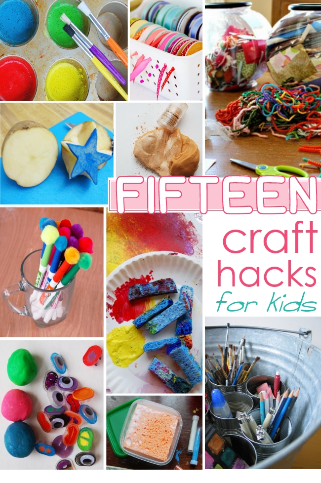 15 hacks for kids craft rooms