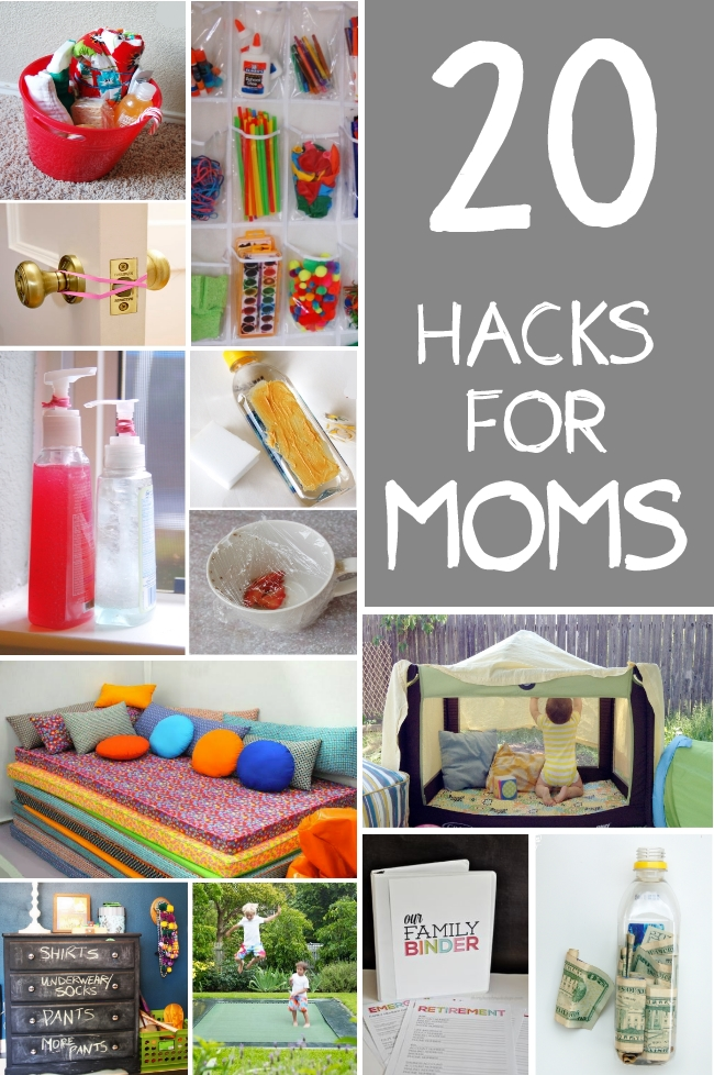 20 hacks for moms handy diy for Household hacks