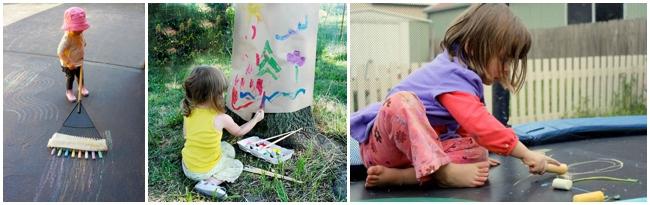 Idées d'art en plein air pour les enfants
