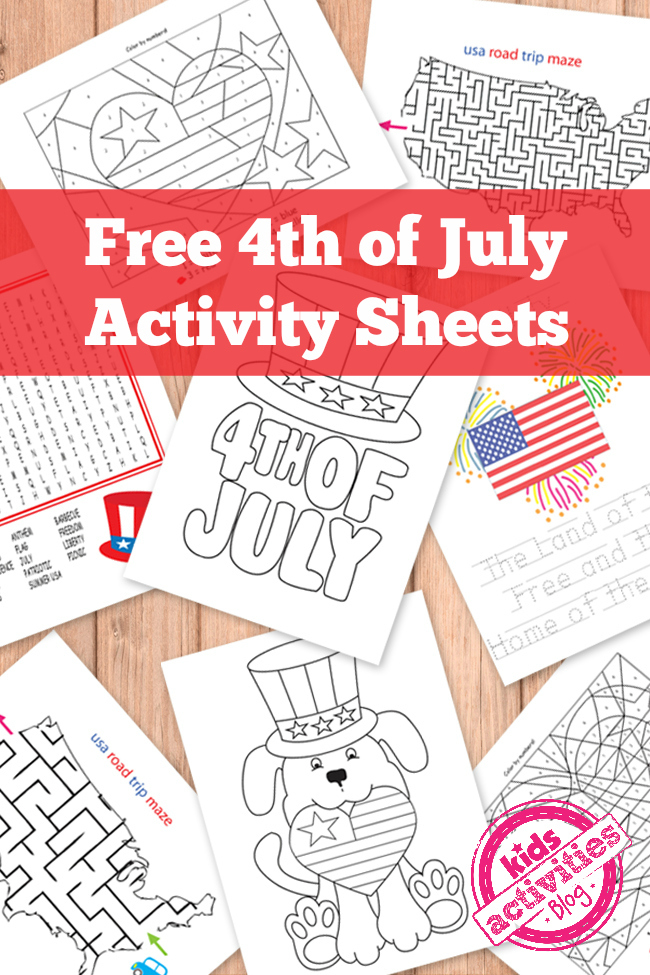 free 4th of july kids activity printables - Kids Activity Printables