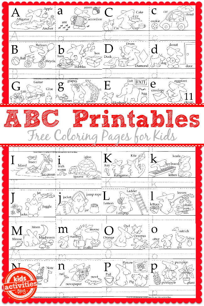 learn to write the abc 39 s with free kids printables. Black Bedroom Furniture Sets. Home Design Ideas