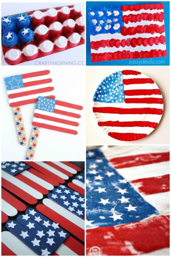 American Flag Crafts Featured