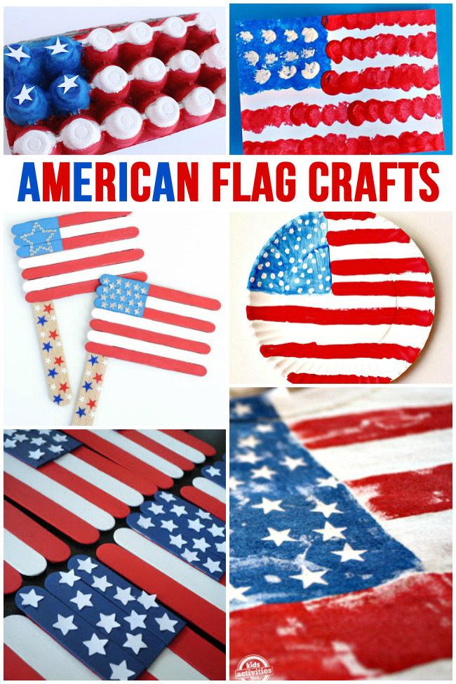 fe8c6a21616 30 American Flag Crafts