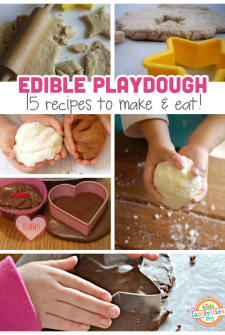 15 {Surprisingly} Edible Playdough Recipes