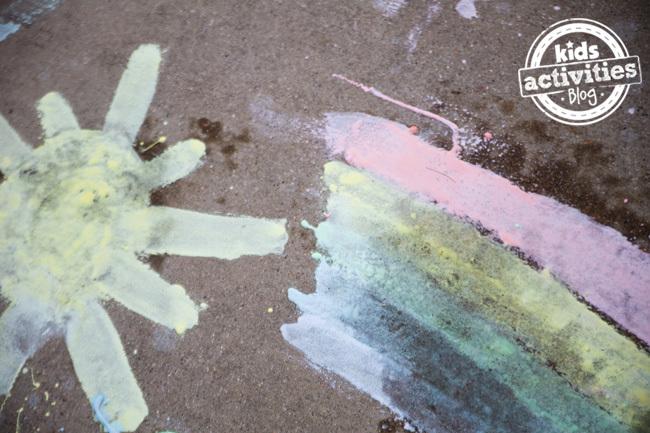 Fizzing Sidewalk Paint 2