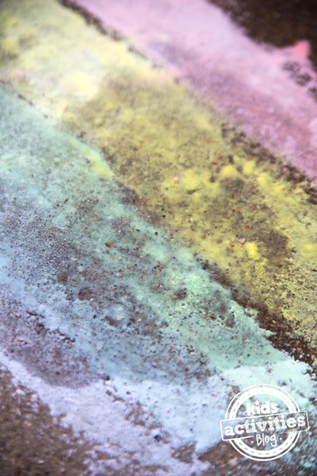 Fizzing Sidewalk Paint 3