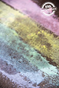 Fizzing Sidewalk Paint