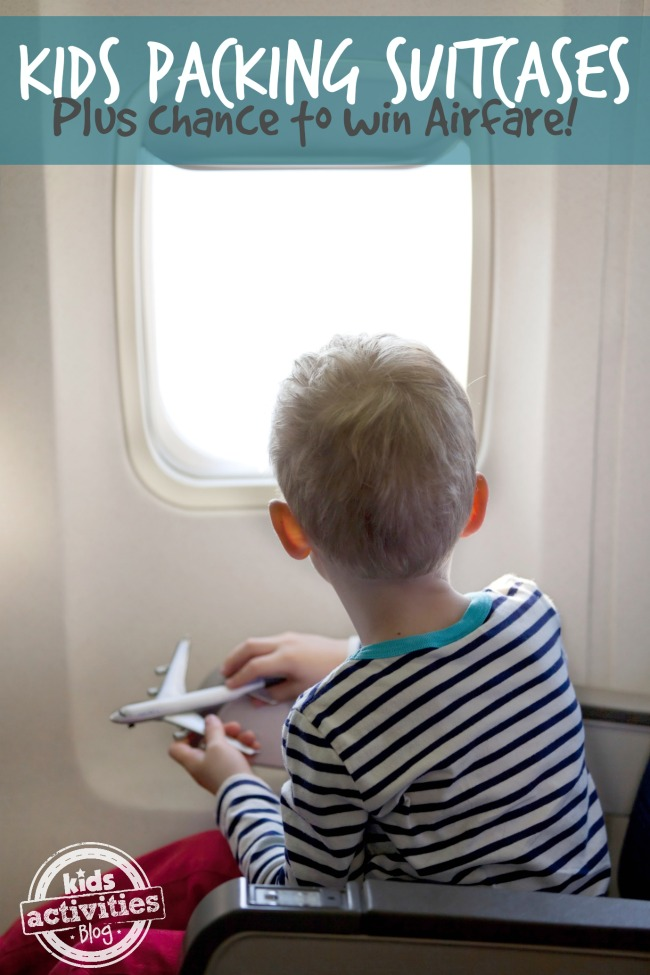 Kids Packing Suitcases Plus Chance to Win Southwest Airlines airfare