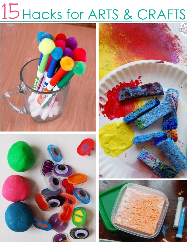 15 craft hacks for kids for Fast drying paint for crafts