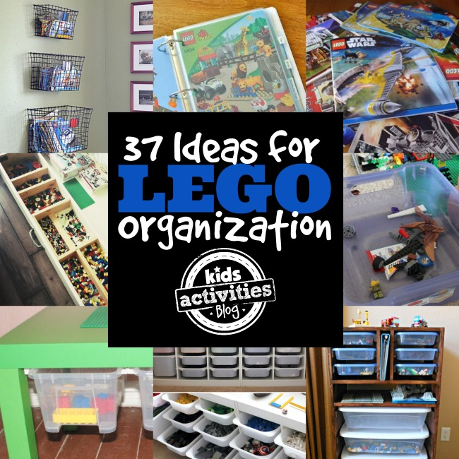 More LEGO organization ideas that include bins, baskets, and boxes/