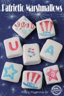 Patriotic Marshmallows for 4th of July